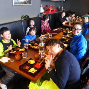 Enjoying lunch at An Dining at Ki Niseko.