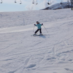 Having fun on the slopes.