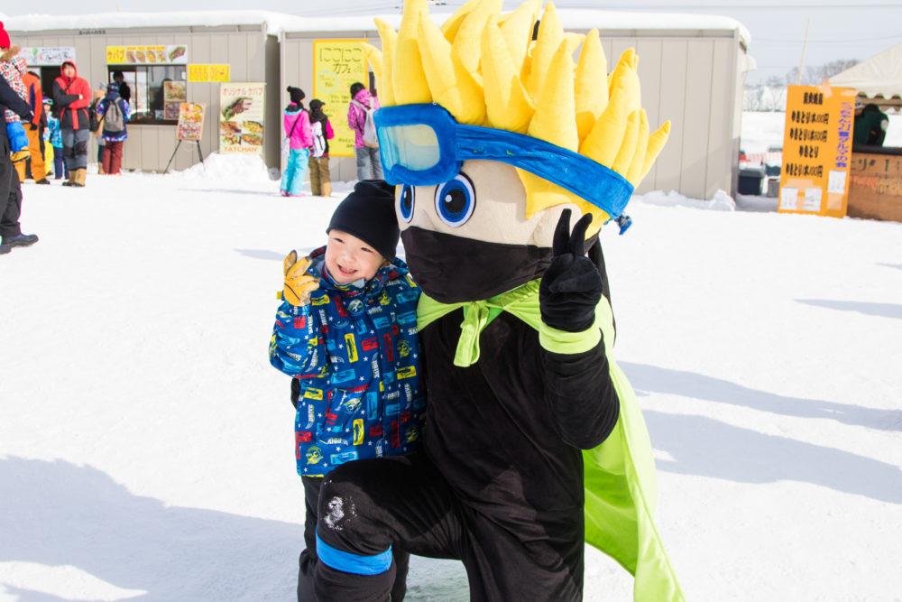 ninja kid wows the crowd at yukitopia snow festival gosnow