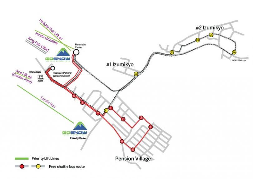 Gonsnow Bus Map Hirafu 2016 17