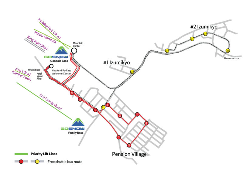 Gosnow Bus Map Hirafu 2017 18
