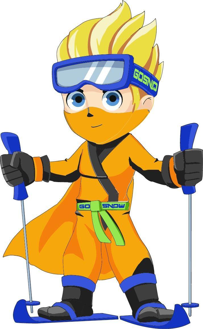 Orange Ninja Kids Mascot 3